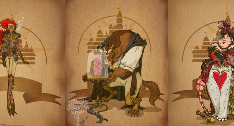 Featured Image Steampunk Disney Character Posters