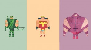 Featured Image Awesome Watercolour Superheroes