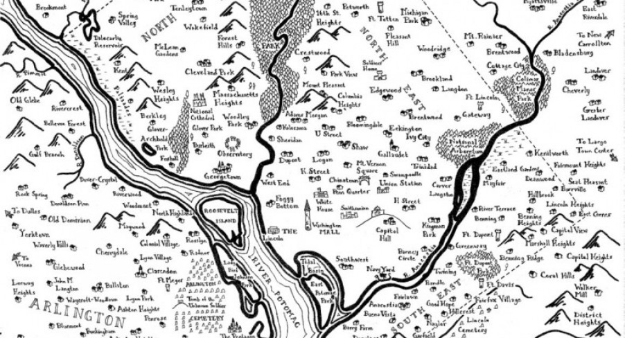 Featured Image Tolkien-ised US City Maps